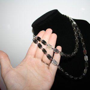 "Vintagejelyfish Jewelry - Beautiful silver link necklace 44"""